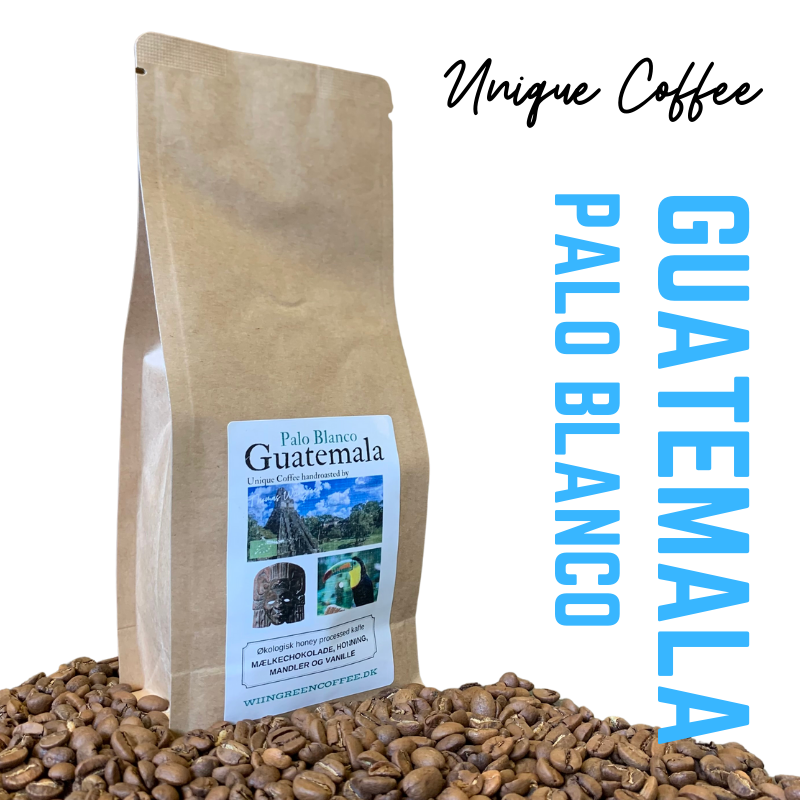 Palo Blanco, Guatamala Honey processed, økologisk friskristet kaffe